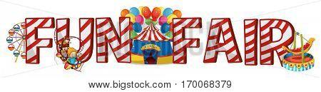 Font design for word fun fair illustration