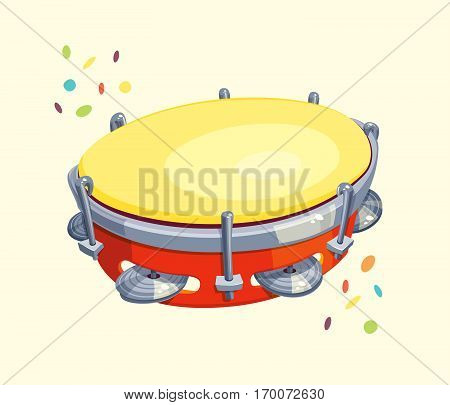 Vector cartoon for carnival or music themes.