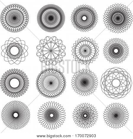 Abstract spirograph elemens