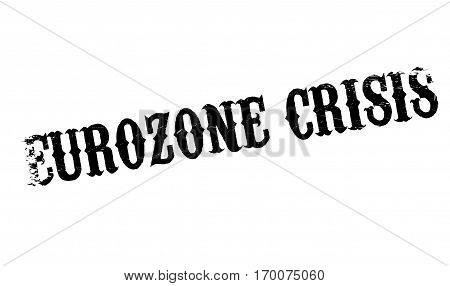 Eurozone Crisis rubber stamp. Grunge design with dust scratches. Effects can be easily removed for a clean, crisp look. Color is easily changed.