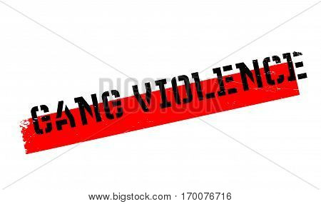 Gang Violence rubber stamp. Grunge design with dust scratches. Effects can be easily removed for a clean, crisp look. Color is easily changed.