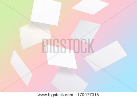 Flying Multicolor Business Cards