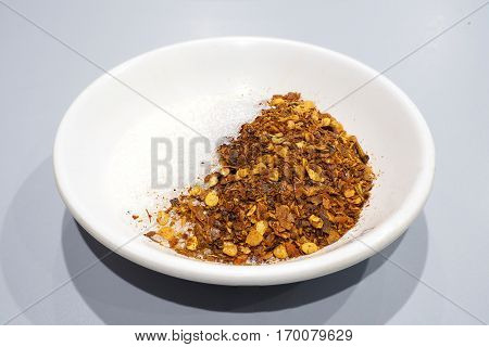 Cayenne pepper hot and spicy serve with main food