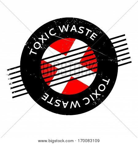 Toxic Waste rubber stamp. Grunge design with dust scratches. Effects can be easily removed for a clean, crisp look. Color is easily changed.