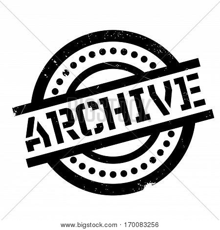 Archive rubber stamp. Grunge design with dust scratches. Effects can be easily removed for a clean, crisp look. Color is easily changed.