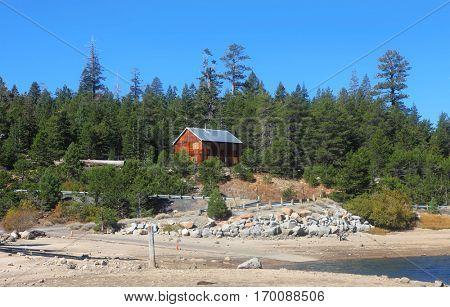 Silver lake old power house from Ferguson point in eastern Sierra mountains