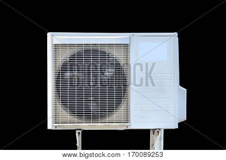 air conditioning fan ventilation on black background