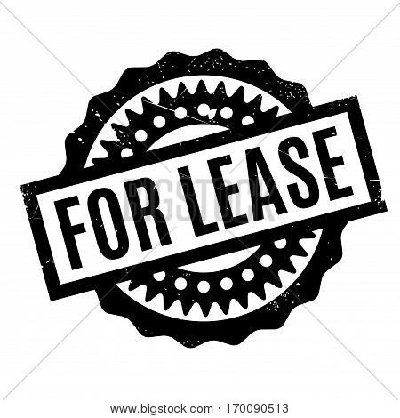 For Lease rubber stamp. Grunge design with dust scratches. Effects can be easily removed for a clean, crisp look. Color is easily changed.