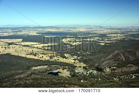 Beautiful view at Boroka look out near Halls Gap in Grampians National Park