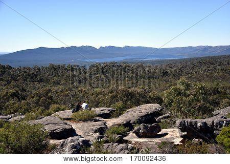 Lake Wartook reservoir in the Grampians National Park Victoria Australia.