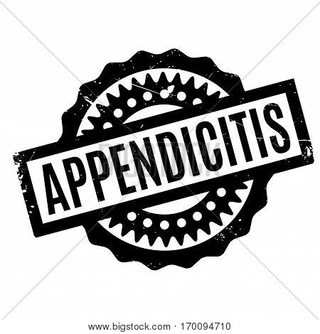 Appendicitis rubber stamp. Grunge design with dust scratches. Effects can be easily removed for a clean, crisp look. Color is easily changed.