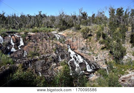 MacKenzie Falls waterfall in the Grampians region of Victoria Australia
