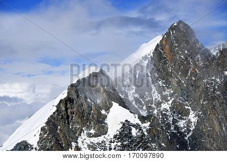 Alpine landscape in Altai Mountains, Belukha Peak, Siberia, Russian Federation