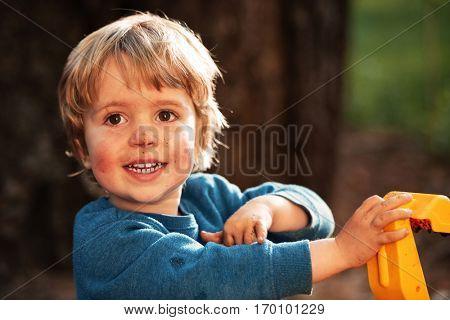 Happy boy. close up portrait. so happy boy