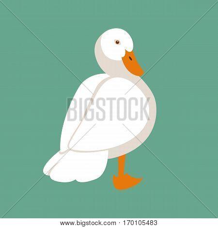 duck vector illustration style Flat side profile