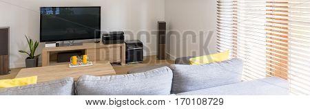 Spacious Lounge With Sofa