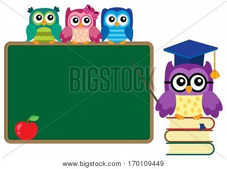 Stylized school owl theme image 4 - eps10 vector illustration.