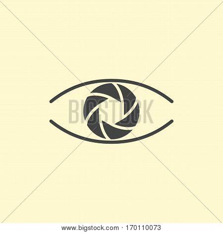 Photography logo design eye. Vector logotype eye