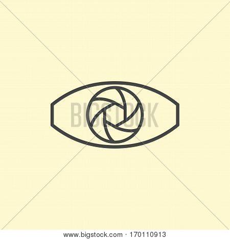 Photography logo design eye. Line art eye