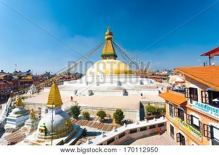 Boudhanath Stupa Surrounding Hotels Shops