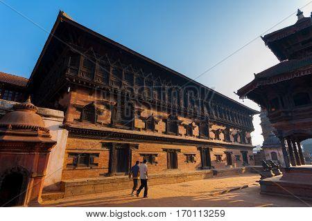 Bhaktapur Durbar Square 55 Window Palace Morning