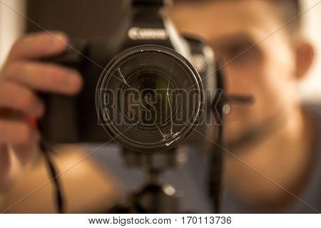 The Camera Close-up , Broken Lenses