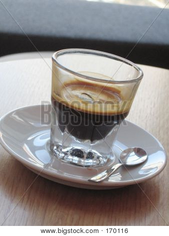 A Shot Of Espresso On Ice