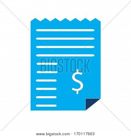 dollar bill invoice icon on white background. dollar bill invoice sign.