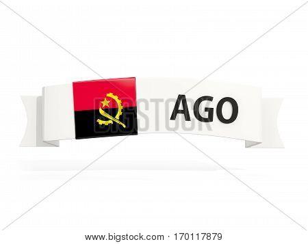 Flag Of Angola On Banner
