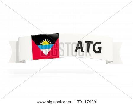 Flag Of Antigua And Barbuda On Banner