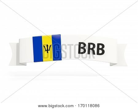 Flag Of Barbados On Banner