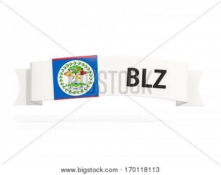Flag Of Belize On Banner
