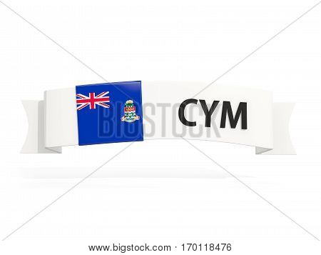 Flag Of Cayman Islands On Banner