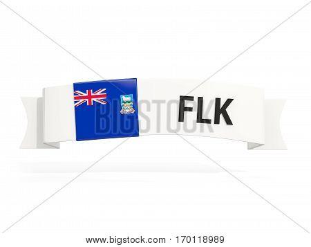 Flag Of Falkland Islands On Banner
