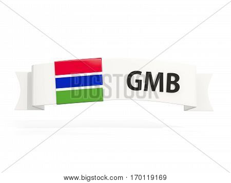 Flag Of Gambia On Banner