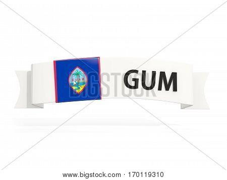Flag Of Guam On Banner