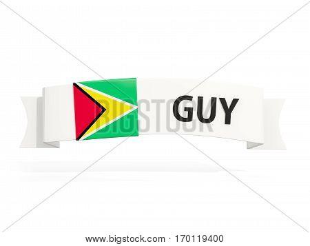 Flag Of Guyana On Banner
