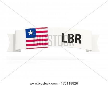 Flag Of Liberia On Banner