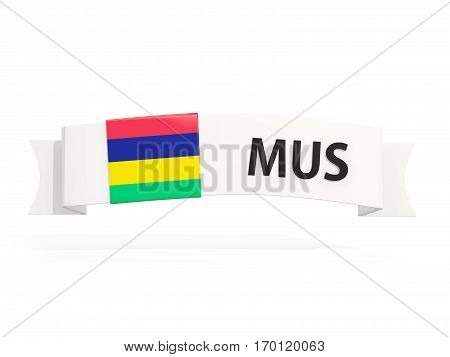 Flag Of Mauritius On Banner