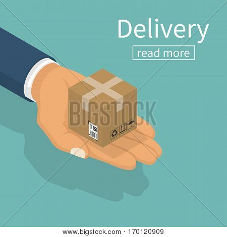 Delivery Isometric. Vector