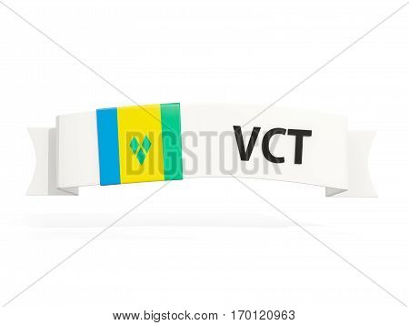 Flag Of Saint Vincent And The Grenadines On Banner
