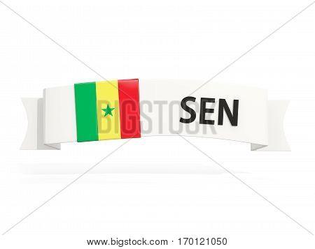 Flag Of Senegal On Banner