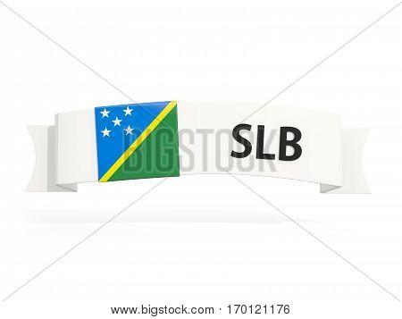 Flag Of Solomon Islands On Banner