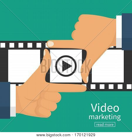 Video Marketing Concept.