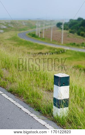 The Guide Post Roadside In Thailand