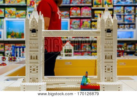 Tower Bridge Built From Lego Bricks