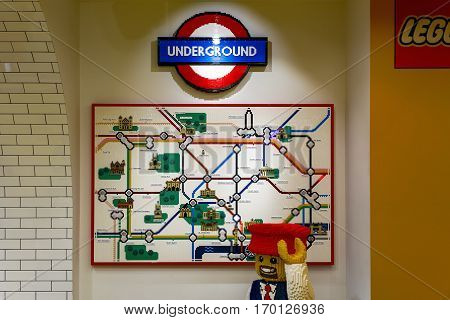 London Underground Map Built From Lego Bricks