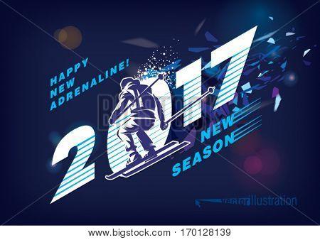 Happy New Year 2017. Ski season