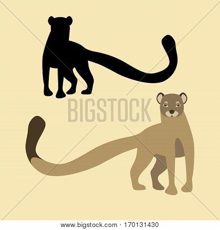 mongoose vector illustration style Flat silhouette black