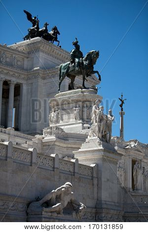 Monumento Nazionale a Vittorio Emanuele II - National Monument to Victor Emmanuel II - Il Vittoriano Roma Italy